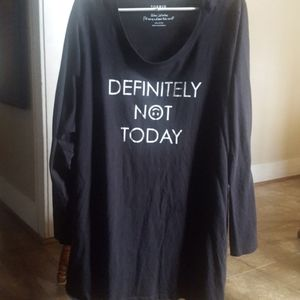 Torrid Size 5 Definitely Not Today Shirt 😑